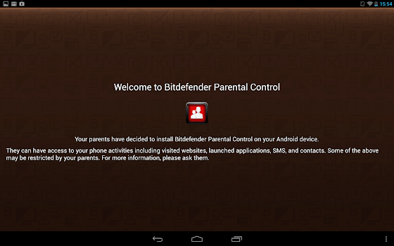 BitDefender Parental Control on Android